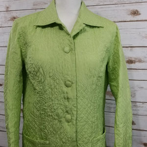 Coldwater Creek Green Quilted Jacket PM